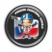 Samolepka Fanúšik českého hokeja - puk