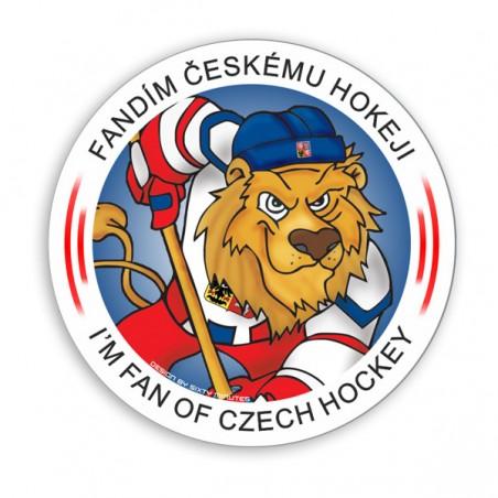 Samolepka Fandím českému hokeji