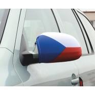 Návleky na zrcátka Česká vlajka na autě