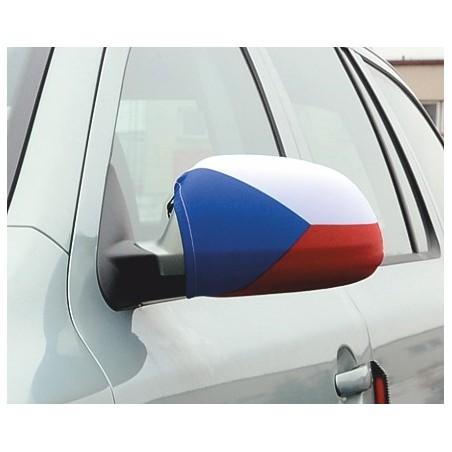 Návleky na zrkadlá Česká vlajka na autě