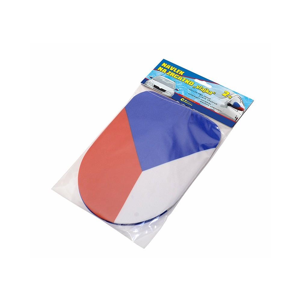Návleky na zrkadlá Česká vlajka