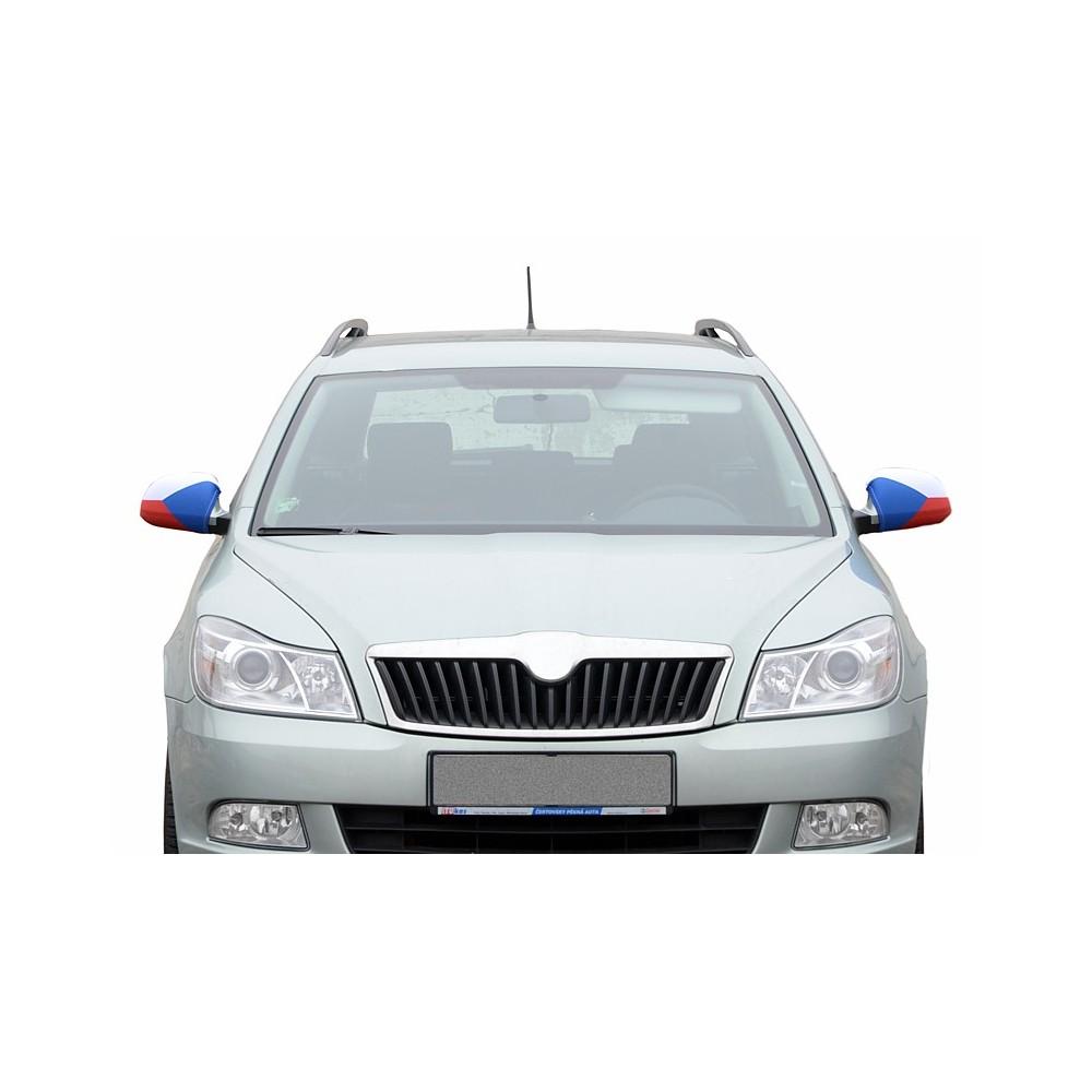 Návleky na zrkadlá Česká vlajka pohľad na auto