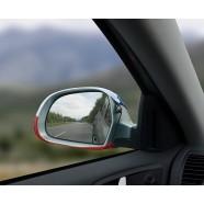 Návleky na zrcátka Česká vlajka pohled z auta