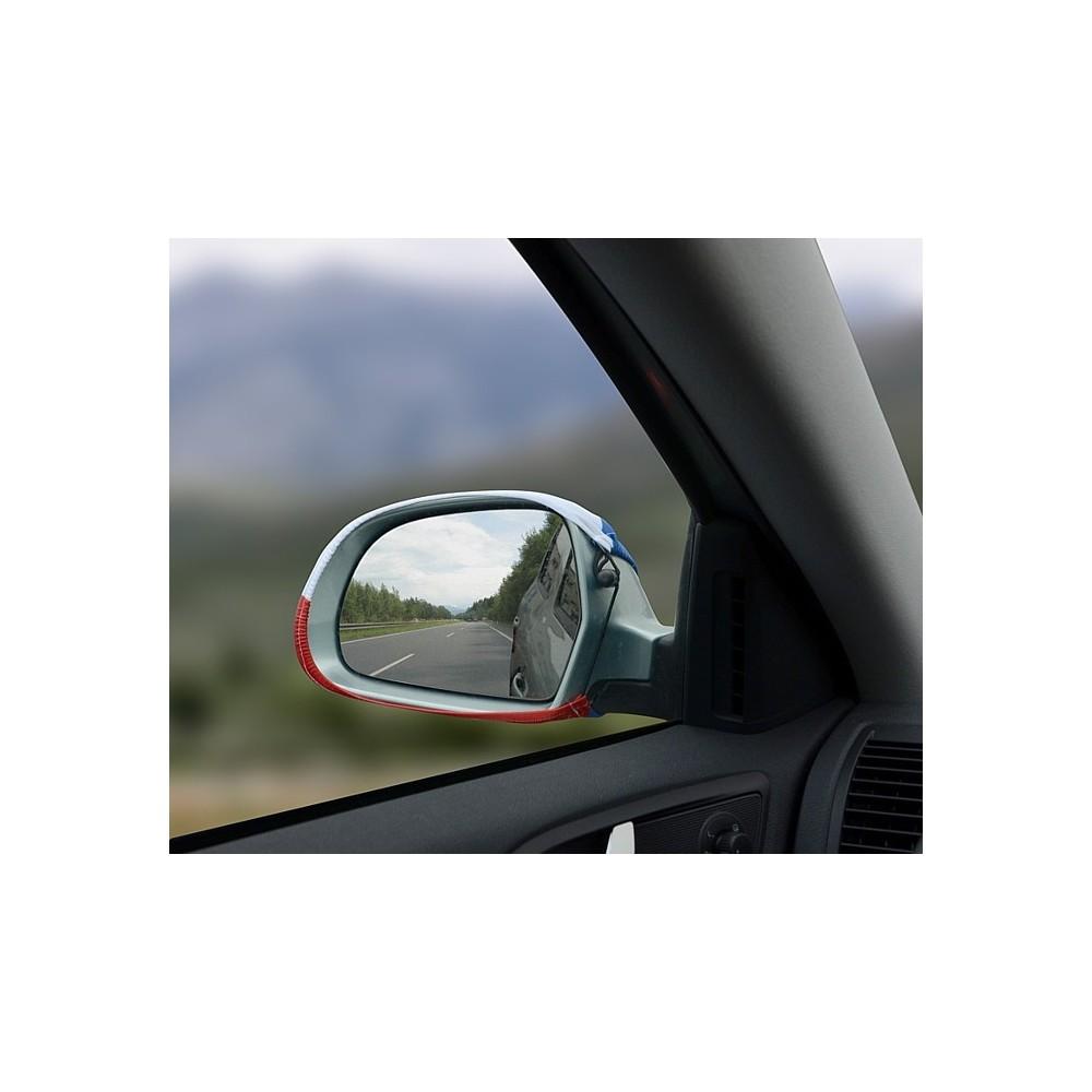 Návleky na zrkadlá Česká vlajka pohľad z auta