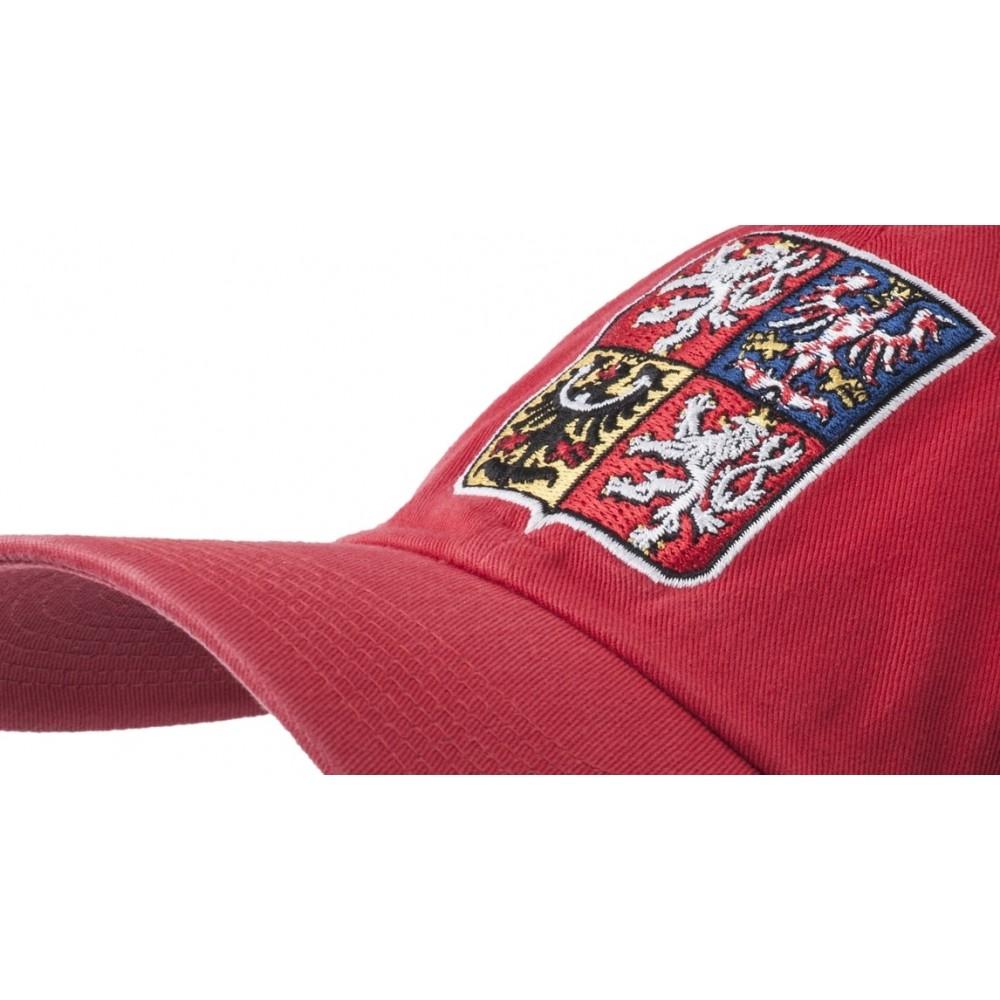 Kšiltovka Nike Česká republika červená, detail výšivky