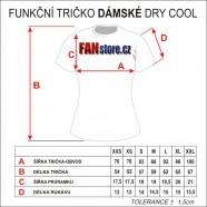 Tabulka velikostí - funkční trička