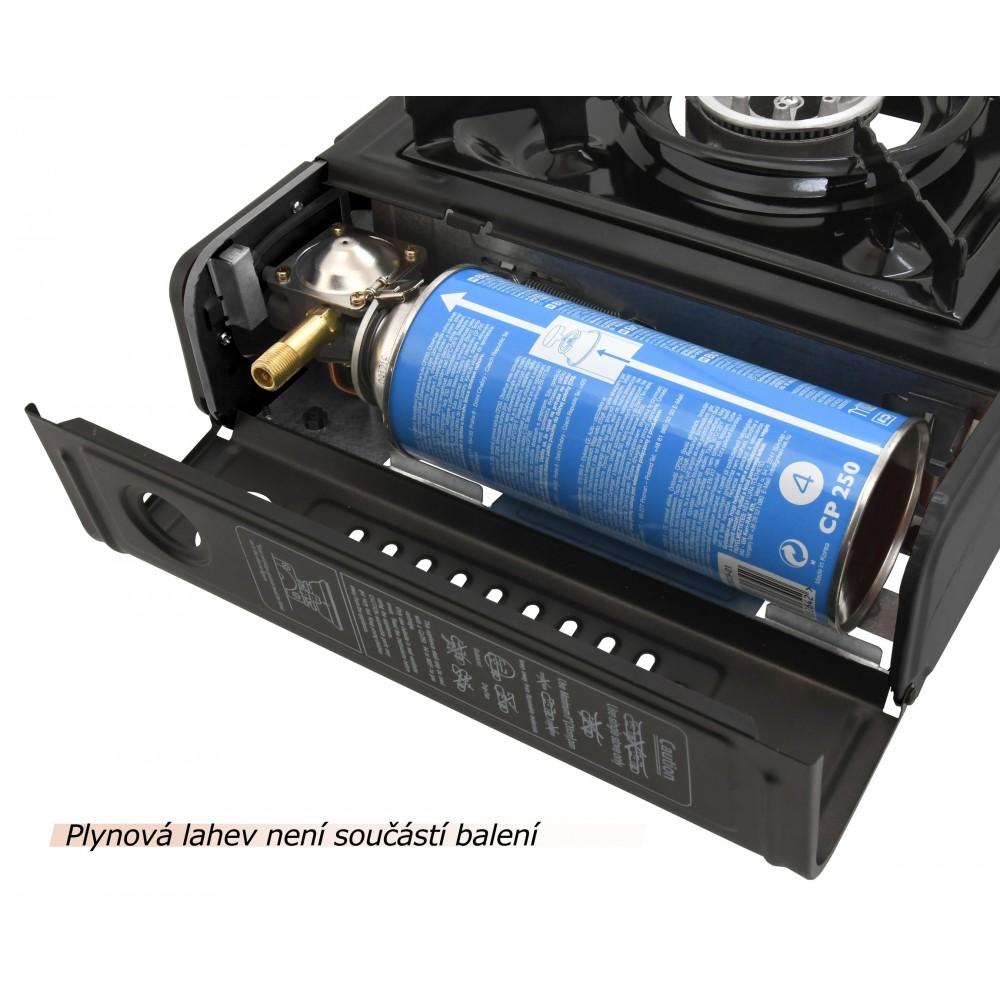 Plynový varič Traveler, uloženie kartuše