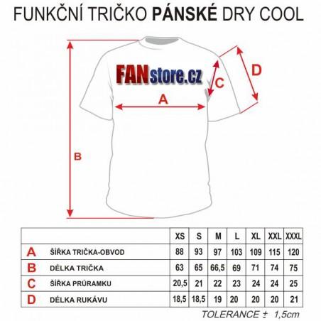Funkční trička - tabuľka veľkostí