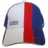 Kšiltovka v barvách české trikolóry s nápisem Czech republic - čelo