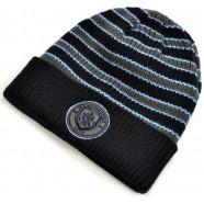 Zimní čepice Manchester City s proužky