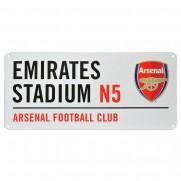 Plechová cedule Arsenal FC velká bílá