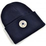 Zimní čepice Converse Tall Cuff modrá