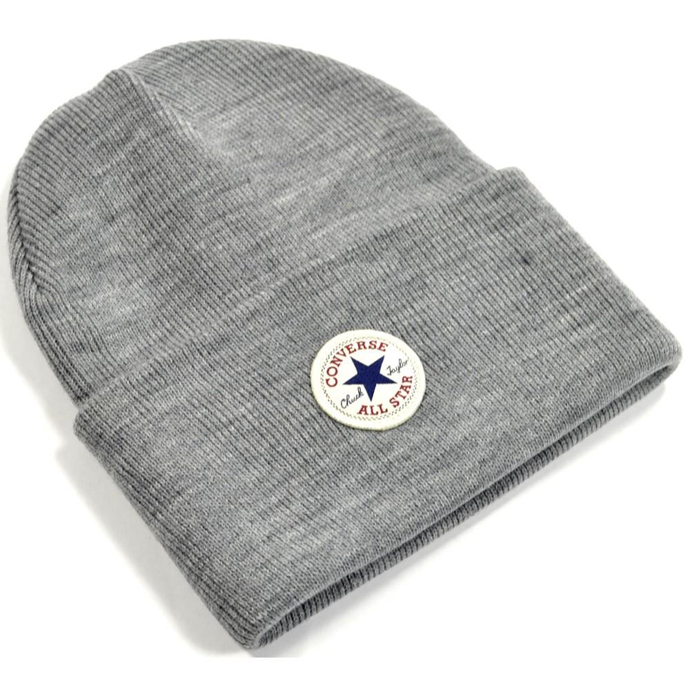 Zimná čiapka Converse Tall Cuff šedá