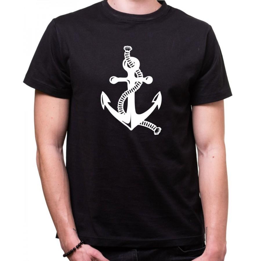 Vodácke tričko Kotva pánske čierne