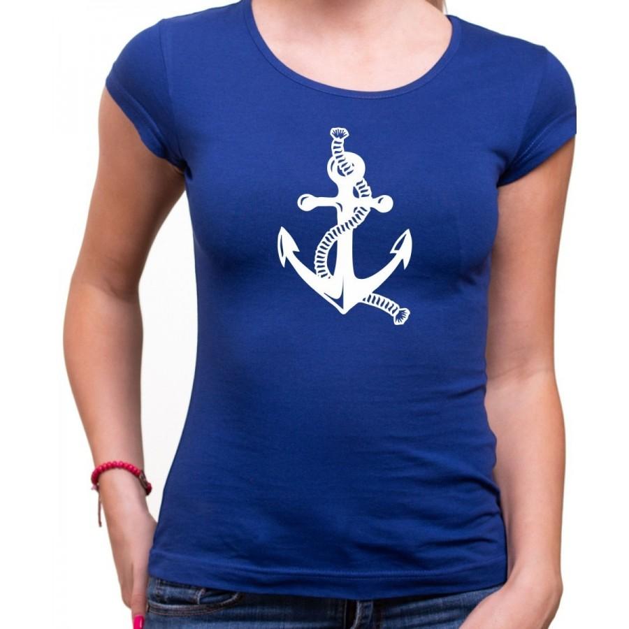 Vodácke tričko Kotva dámske modré