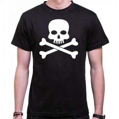 Vodácke tričko Pirát pánske čierne