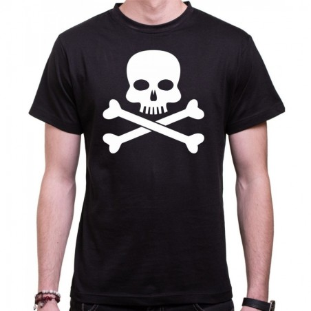 Vodácké tričko Pirát pánské černé
