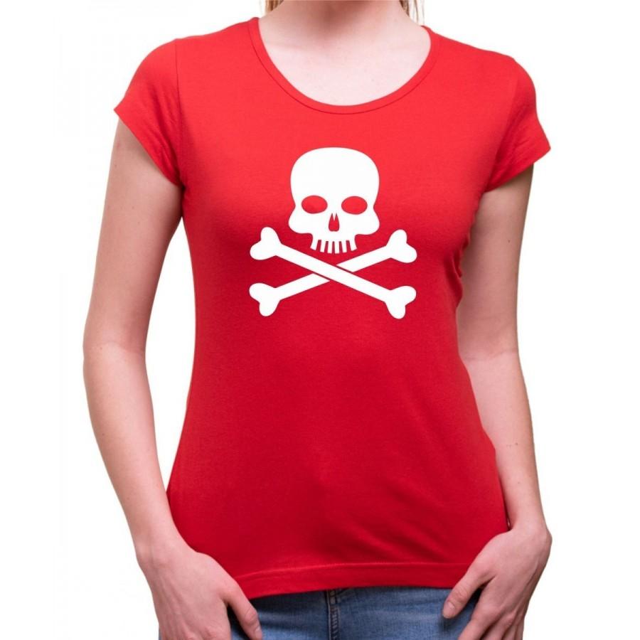Vodácke tričko Pirát dámske červené