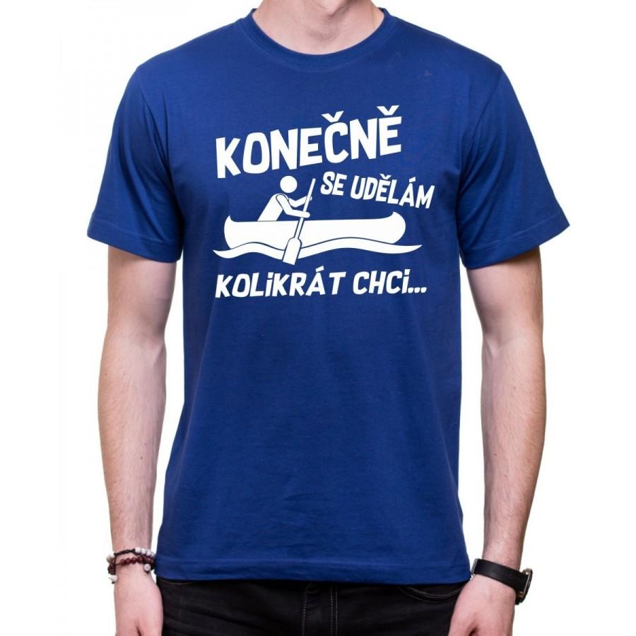 Vodácke tričko Konečně.. pánske modré