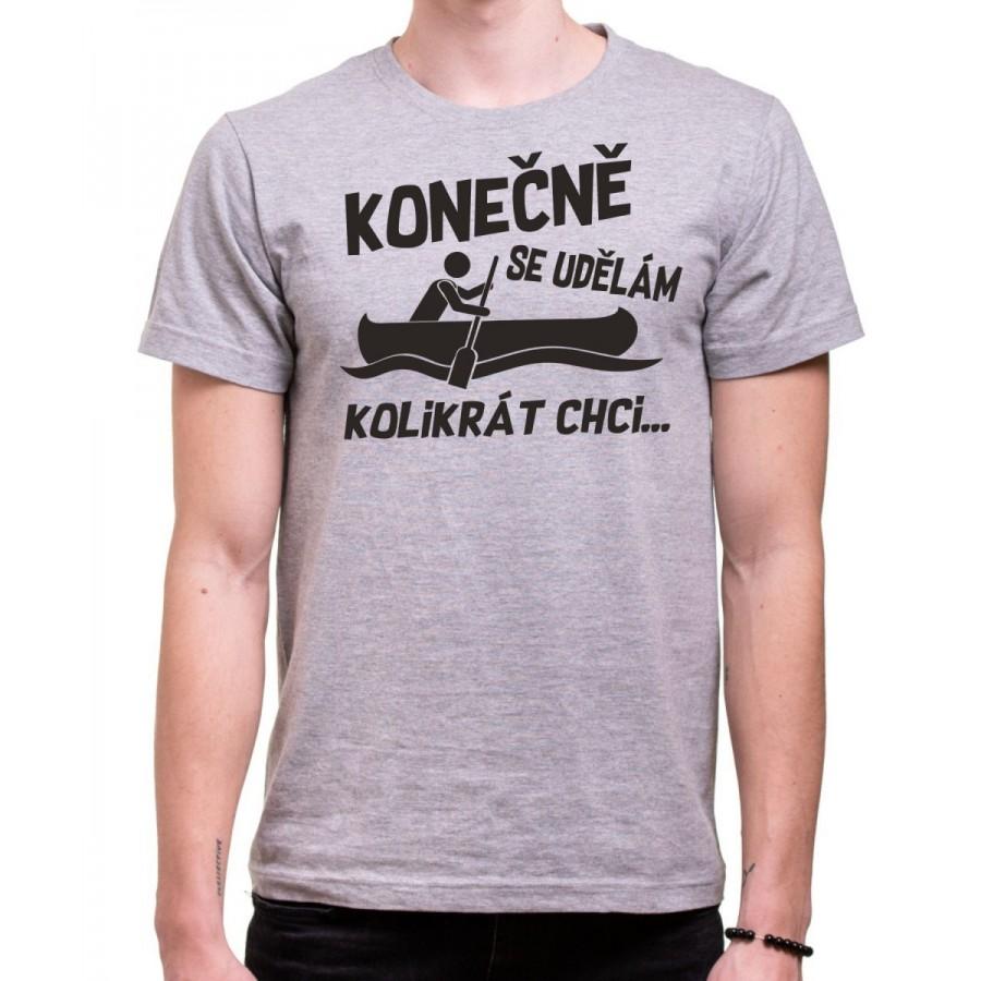 Vodácke tričko Konečně.. pánske sivé