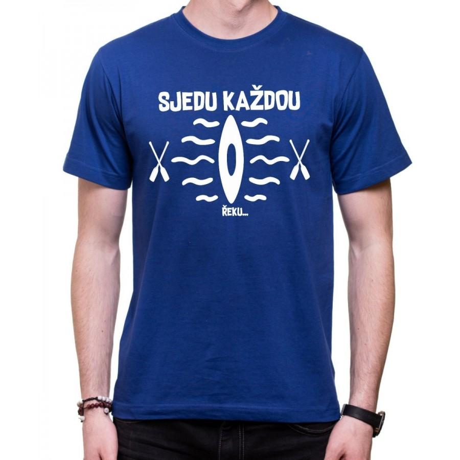 Vodácke tričko Sjedu.. pánske modré