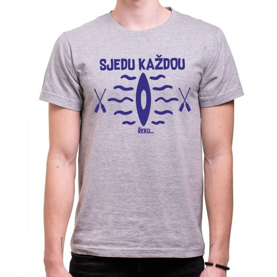 Vodácke tričko Sjedu.. pánske sivé