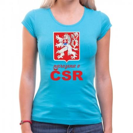Tričko Narozena v ČSR světle modré