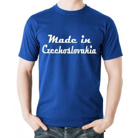 Tričko Made in Czechoslovakia modré