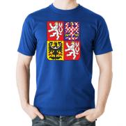 Tričko Česká republika Znak modré