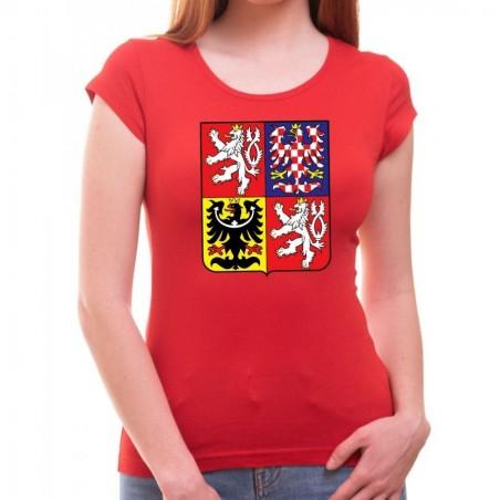 Tričko Česká republika Znak dámské červené