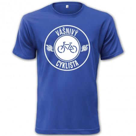 Tričko Vášnivý cyklista modré