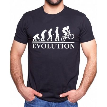 Tričko Evolúcia cyklisty čierne