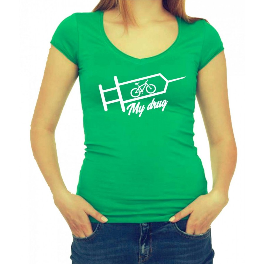 Tričko Bicykel je moja droga dámske zelené