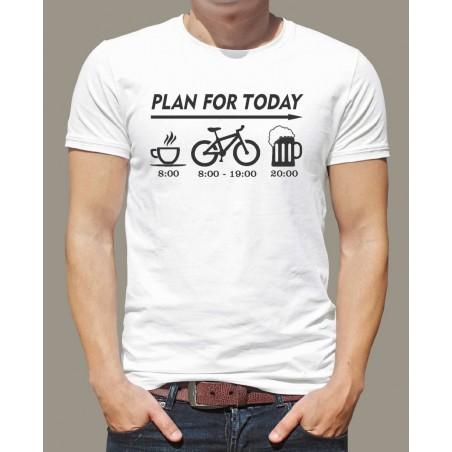 Tričko Dnešný plán cyklistu biele