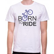 Tričko Born to Ride bílé