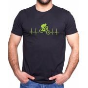 Tričko EKG kolo čierne