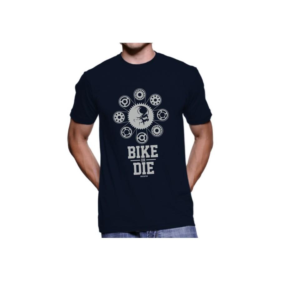 Tričko Bike or Die modré