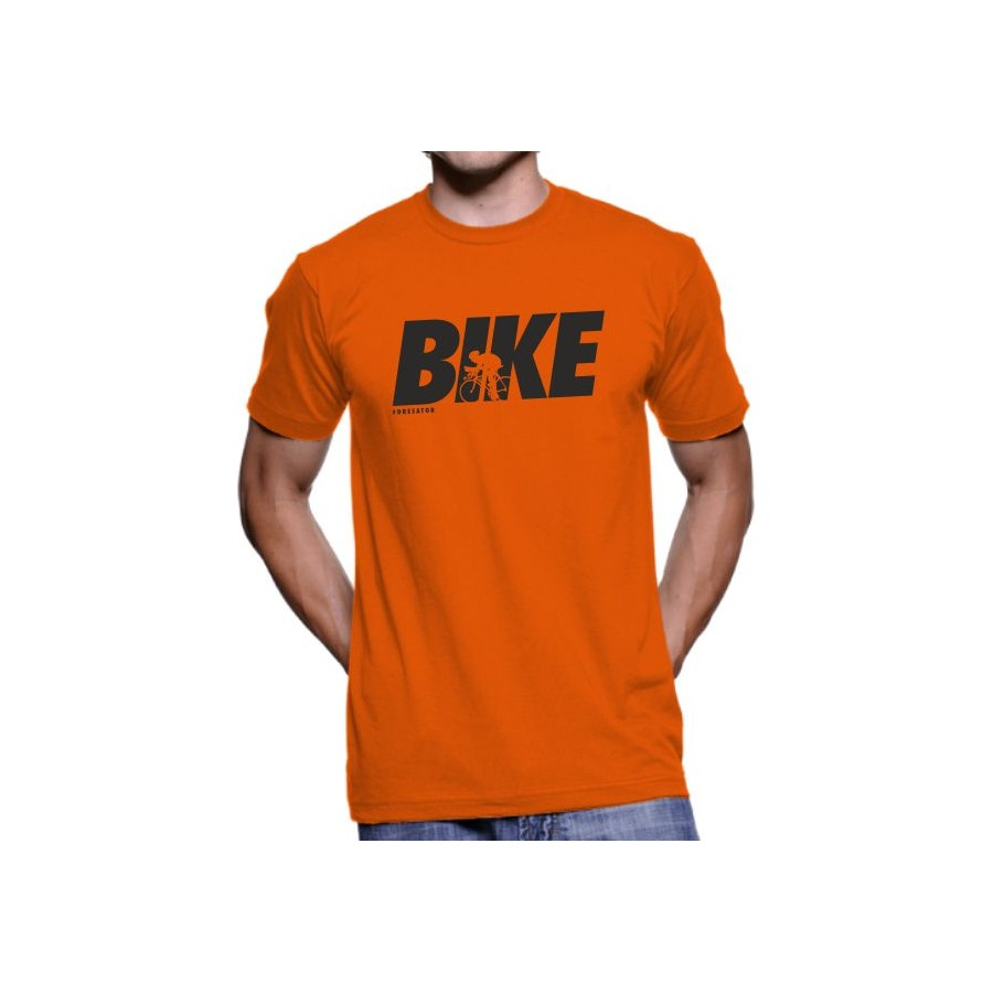 Tričko Bike oranžové