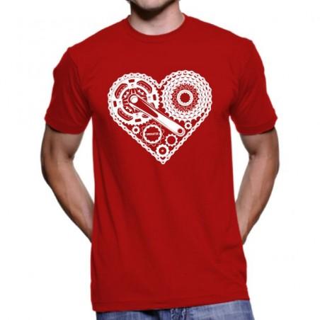 Tričko Srdce cyklisty červené