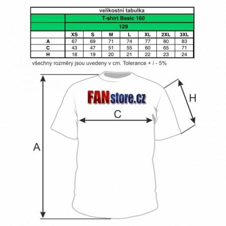 cyklo trička - tabulka velikostí