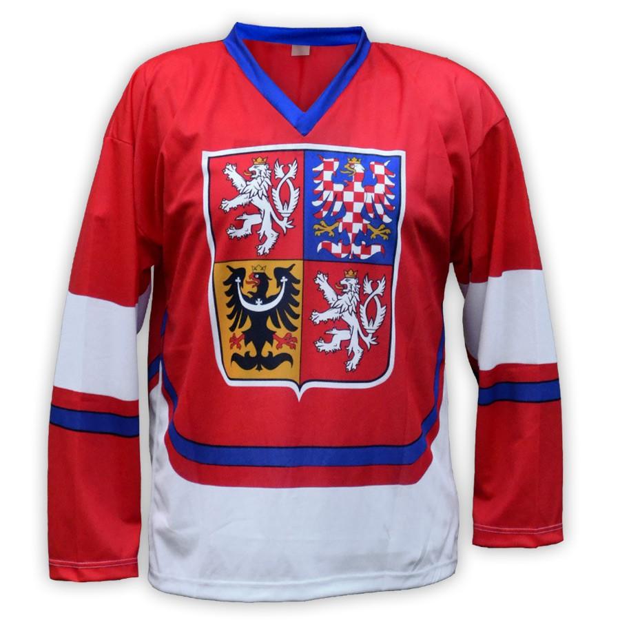Hokejový dres ČR - červený