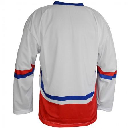Hokejový dres ČR biely - chrbát