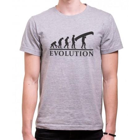 Vodácke tričko Evolúcia sivé