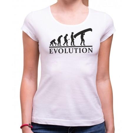 Vodácke tričko Evolúcia dámske biele