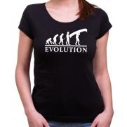Vodácké tričko Evoluce dámské černé
