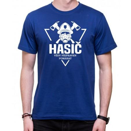 Tričko Hasič - Pripravený pomáhať, modré
