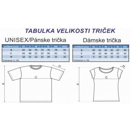Tabuľka veľkostí - tričká