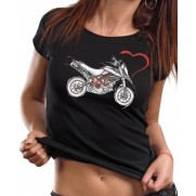 Tričko Motorka je môj život čierne