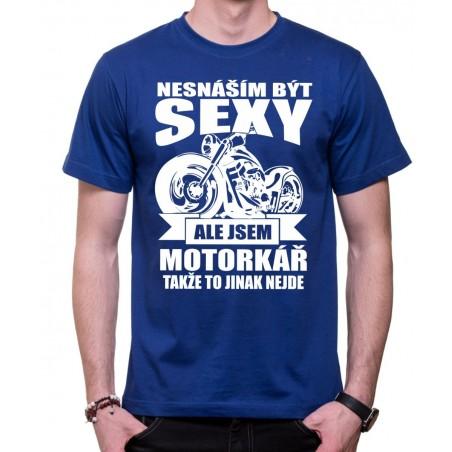 Tričko Sexy motorkár modré