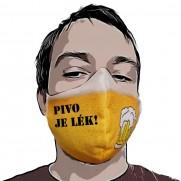 Rouška Pivo Drink & Go - Vlastní nápis